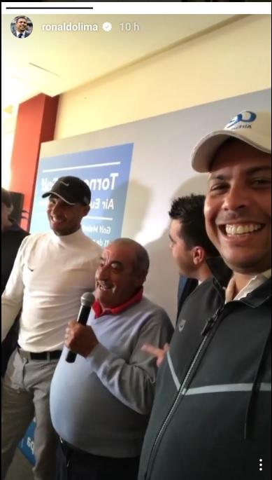 BLOG: Juntos em torneio de golf, Ronaldo Fenômeno registra novo look de Nadal