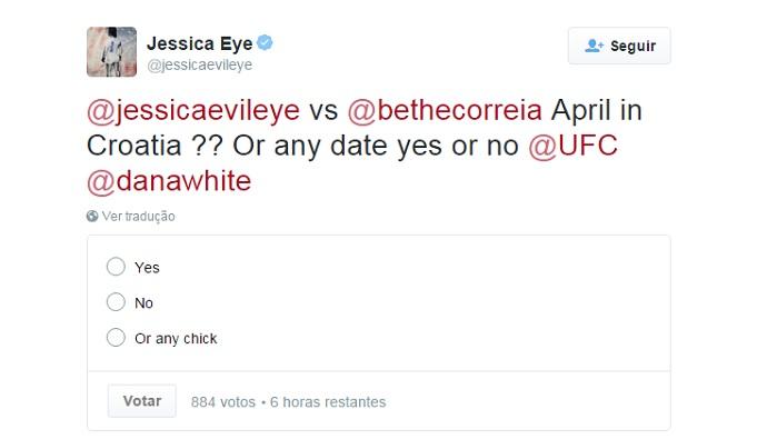 """BLOG: Americana pede a Dana White luta no """"UFC Croácia"""" contra Bethe Correia"""