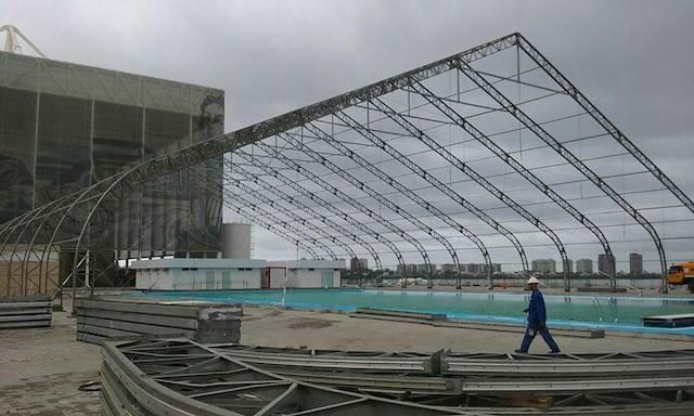 BLOG: Olha como está a piscina de aquecimento do Rio 2016