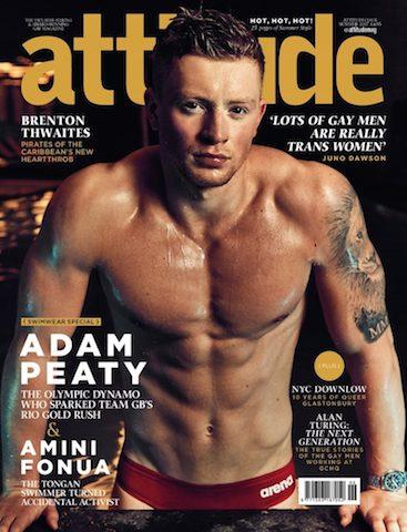 BLOG: Adam Peaty, agora é capa de revista gay na Grã-Bretanha