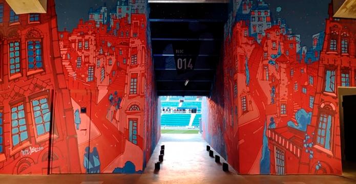 BLOG: Coletivo de pintores transformam estádio do Lyon na maior galeria de arte do mundo