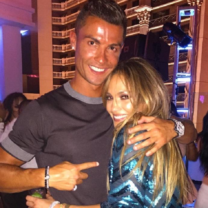 BLOG: Cristiano Ronaldo curte show da aniversariante Jennifer Lopez em Vegas