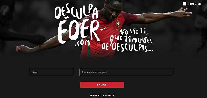 """BLOG: Portugueses criam site pedindo perdão ao herói da Eurocopa: """"Desculpa, Éder!"""""""