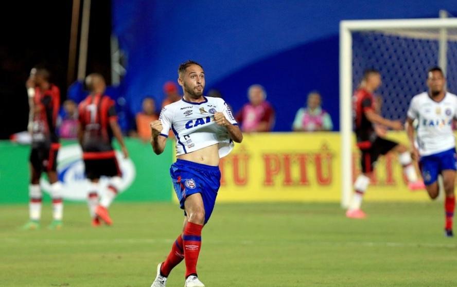 Resultado de imagem para QUE CATEGORIA! Allione, do Bahia, marcou um golaço no Ba-Vi, pela Copa do Nordeste