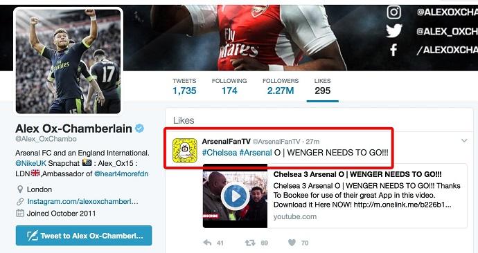 BLOG: Meia do Arsenal curte post pedindo saída de Wenger e causa polêmica
