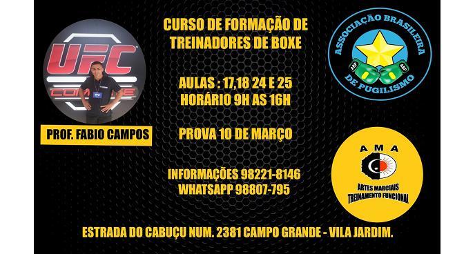 BLOG: Curso de Formação de Treinadores de Boxe na zona oeste do RJ já começou