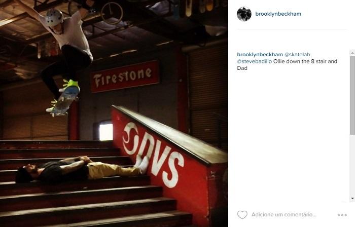 BLOG: Filho de Beckham faz manobra de skate e passa por cima do pai