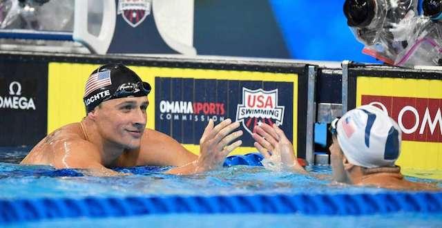"BLOG: Lochte dá ""flat tire"" em Phelps antes da prova"