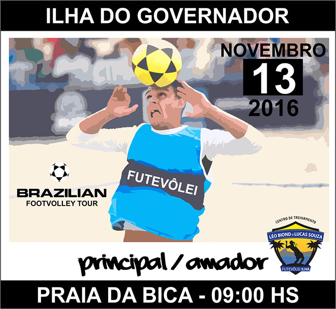 BLOG: Brazillian Footvolley Tour - dia 13 de novembro na Ilha do Governador