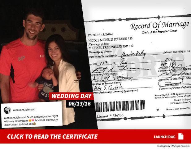 BLOG: O casamento secreto de Michael Phelps