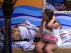 Brothers criticam Laisa após eliminação... (BBB / TV Globo)