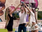 Finalistas ganham almoo de Pscoa com bacalhoada (BBB / TV Globo)
