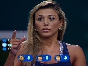 """""""BBB 12"""" – Fabiana vence prova do líder e é a primeira finalista; Jonas e Fael estão no paredão"""