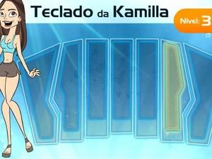 Kamilla teclado (Foto: BBB/ TV Globo)