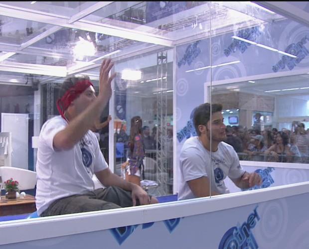 BBB às 17h33m do dia 06/01. (Foto: Big Brother Brasil)