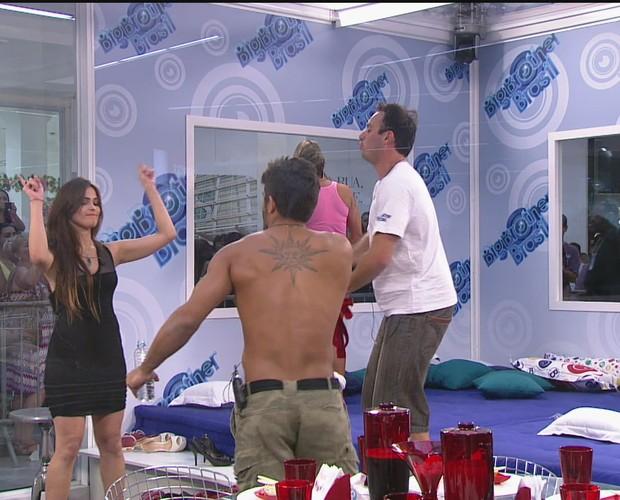 BBB às 17h09m do dia 06/01. (Foto: Big Brother Brasil)
