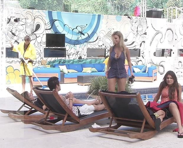 BBB às 10h01m do dia 26/02. (Foto: Big Brother Brasil)