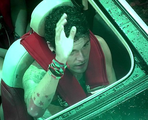 Prova do Lider Nasser pede pra sair (Foto: Rede Globo / BBB)