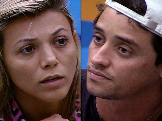 Na reta final, Fael e Fabiana discutem sobre a Prova do Líder Fiat Grand Siena. A sister acusou o brother e Kelly de terem dormido durante a prova