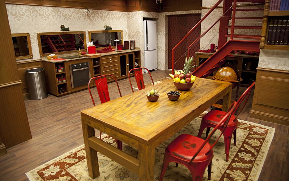 A cozinha da Biblioteca tem estilo clássico com toques modernos