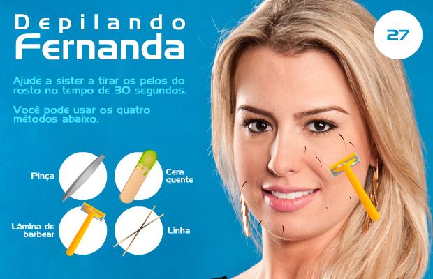 Ajude Fernanda a se depilar direitinho!