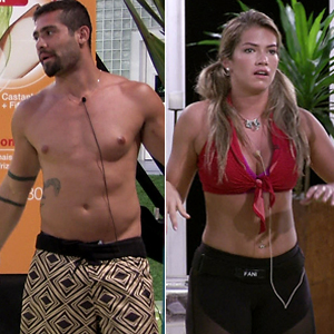 Yuri e Fani deixam Prova do Líder (BBB / TV Globo)