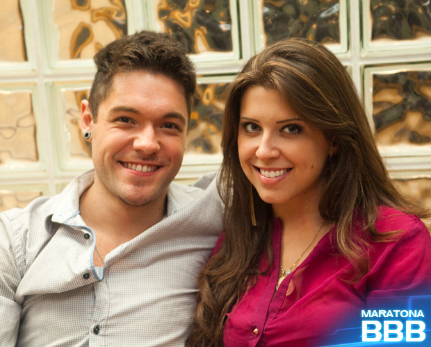 andressa e nasser bastidores (Foto: BBB / TV Globo)