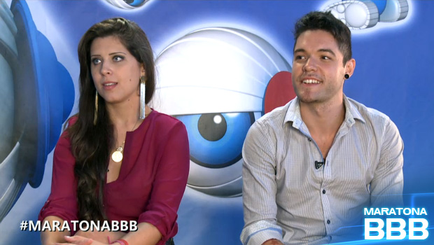Nasser e Andressa maratona (Foto: BBB / TV Globo)