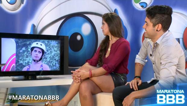 andressa e nasser analisam prova de resistência (Foto: BBB / TV Globo)