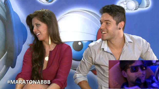 nasser e andressa entrevista maratona (Foto: BBB / TV Globo)