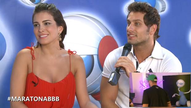 elieser e kamilla  (Foto: BBB / TV Globo)