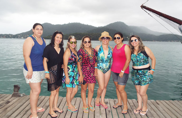 Gracyllene e as amigas estiveram no Rio de Janeiro-RJ