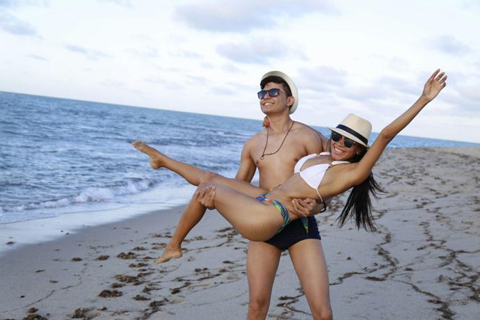 O casal André e Luana viajaram até Fortaleza-CE