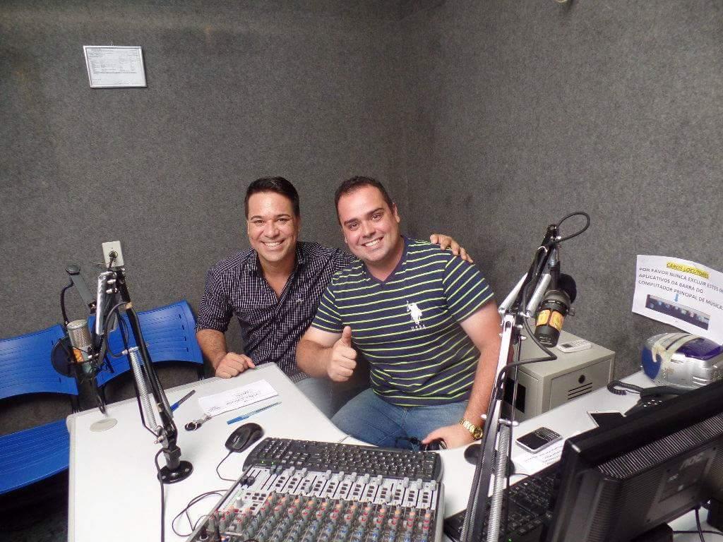 Locutor da Rádio em Santa Vitória com Marcelo Honorato