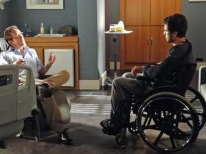 Pedro em sessão com o psicólogo do hospital