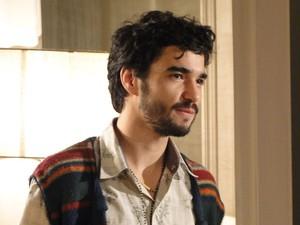 Leandro diz que conhece até os defeitos de sua amada (Foto: Morde&Assopra/TVGlobo)