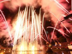 Um belo espetáculo de fogos encerra o Nativitaten (Foto: Secretaria de Turismo de Gramado)