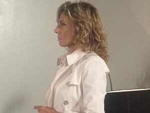 Maruschka diz que faz questão de ver a queda de Grace Kelly (Foto: Aquele Beijo/ TV Globo)