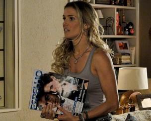 Natalie e a revista 'Espelho' com ela e André Gurgel na capa