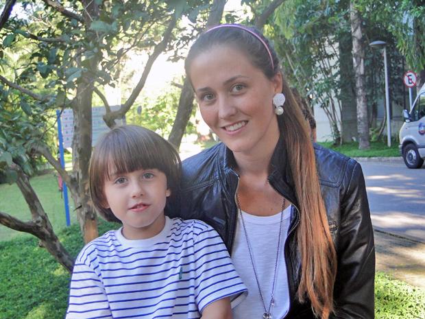 Edoardo Dell'Aversana e a mãe