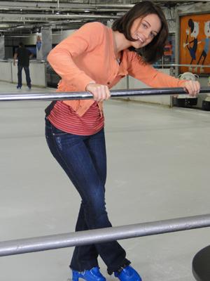 Fátima revela nunca ter pisado em uma pista de patinação no gelo