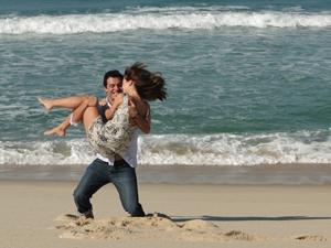 Diana e Mauro na praia