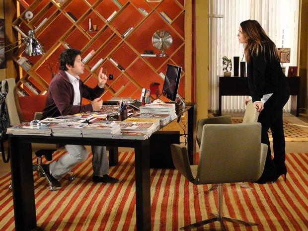 Ariclenes tenta convencer Suzana a ajudá-lo