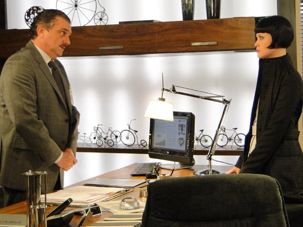 Melina cobra explicações de Saulo sobre o novo cargo de Mauro