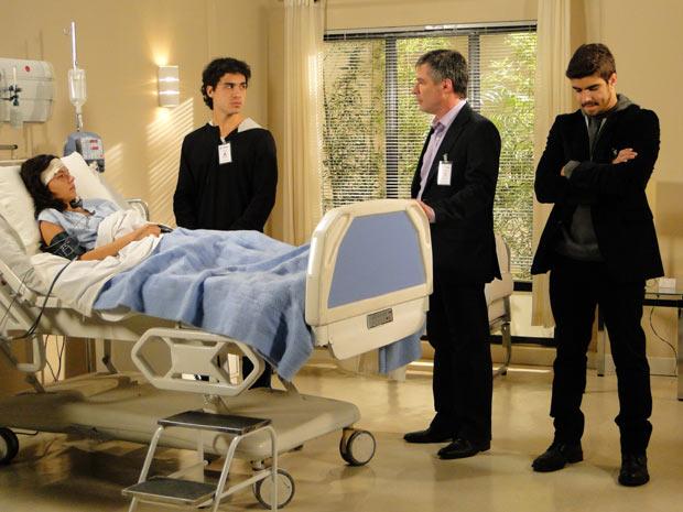 Marcela decide aceitar a proposta de Gustavo, mas avisa que vai contar a verdade para Bruna quando ela estiver melhor