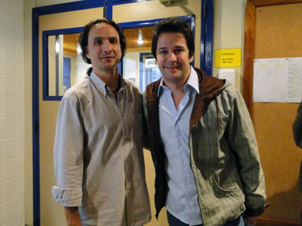 Murilo Benício e o professor de espanhol, Santiago