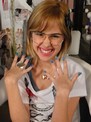 O azulzinho da Mabi (Clara Tiezzi) é aposta para primavera