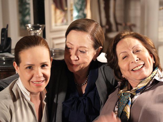 Débora Duboc, Fernanda Montenegro e Aracy Balabanian