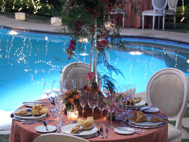 Decoração do jantar de Clô em homenagem a Bete Gouveia