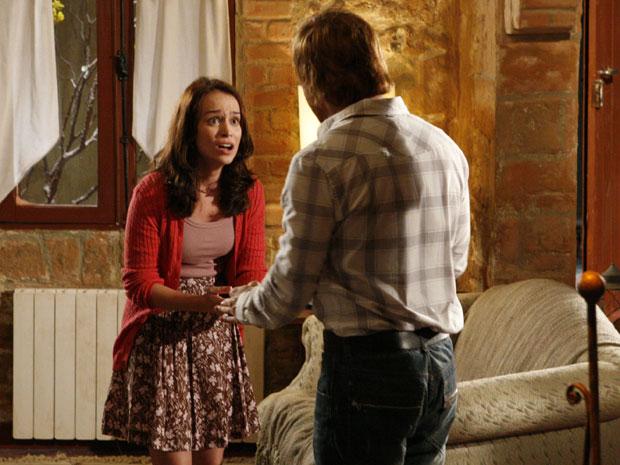 Francesca confessa que aceitou dinheiro de Clara para reatar com Adamo